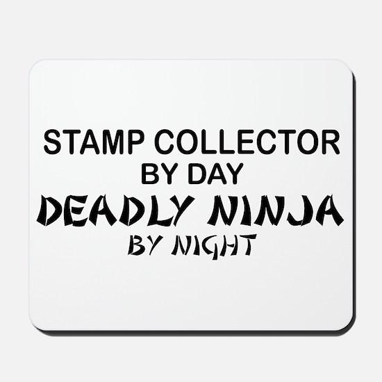 Stamp Collector Deadly Ninja Mousepad