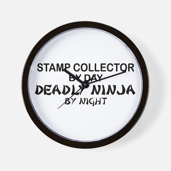Stamp Collector Deadly Ninja Wall Clock