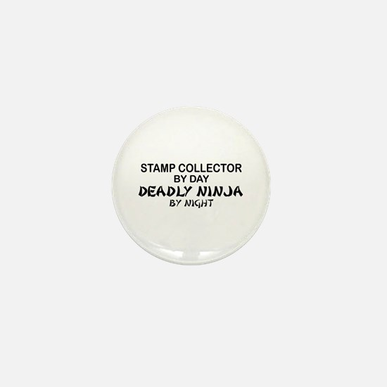 Stamp Collector Deadly Ninja Mini Button