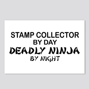 Stamp Collector Deadly Ninja Postcards (Package of
