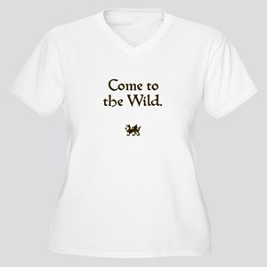 Come to the Wild Women's Plus Size V-Neck T-Shirt