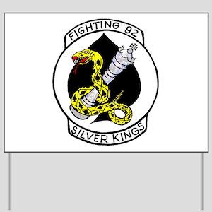 VF 92 Silver Kings Yard Sign