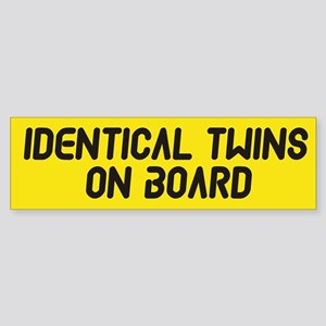 Identical Twins On Board - Twin Bumper Sticker