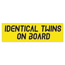Identical Twins On Board - Twin Bumper Sticker