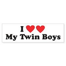 I Heart My Twin Boys - Twin Bumper Sticker