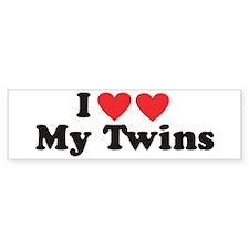 I Heart My Twins - Twin Bumper Sticker