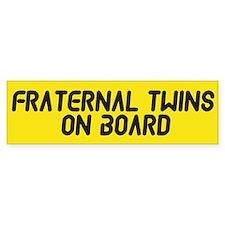 Fraternal Twins On Board - Twin Bumper Sticker