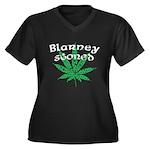 Blarney Stoned Women's Plus Size V-Neck Dark T-Shi