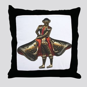 Red Matador Throw Pillow
