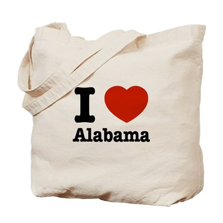 I love Alabama Tote Bag