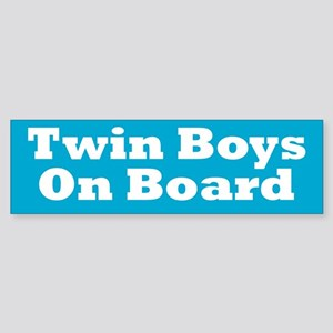 Twin Boys On Board - Twin Bumper Sticker
