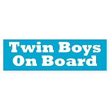 Twin Boys On Board - Twin Bumper Sticker