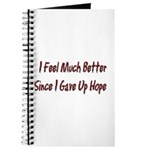 I Feel Much Better Journal