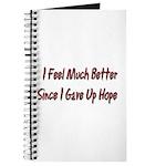 I Feel Much Better Journal
