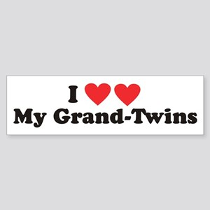 I Heart My Grand Twins - Bumper Sticker