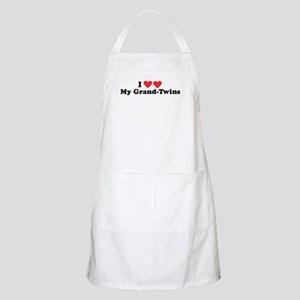 I Heart My Grand Twins -  BBQ Apron