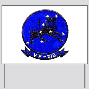 VF 213 Black Lions Yard Sign
