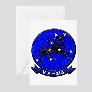 VF 213 Black Lions Greeting Cards (Pk of 10)