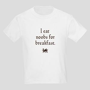 i eat noobs for breakfast Kids Light T-Shirt
