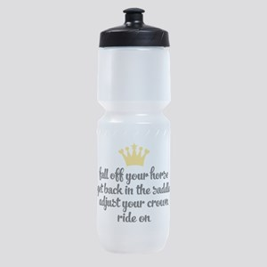 fall off your horse Sports Bottle