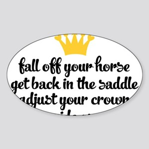 fall off your horse Sticker
