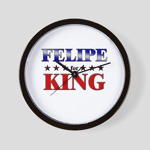FELIPE for king Wall Clock