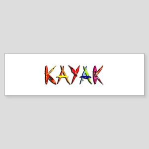 Kayak Graffiti Sticker (Bumper)