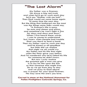 """""""The Last Alarm"""" Small Poster"""
