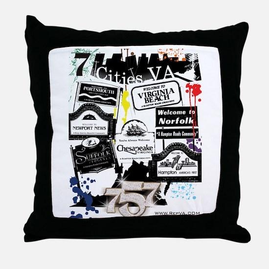 7 Cities Throw Pillow