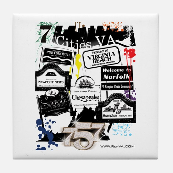 7 Cities Tile Coaster