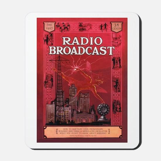 Radio Broadcast Red Mousepad