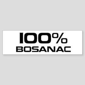 100% Bosanac Bumper Sticker
