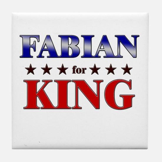 FABIAN for king Tile Coaster