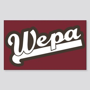 Wepa! Rectangle Sticker