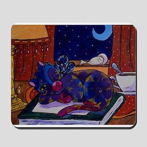 Fairy Cat On a Book Mousepad