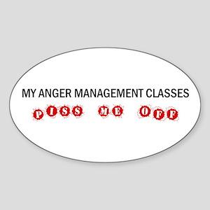 Anger Management Pisses Me Off Oval Sticker