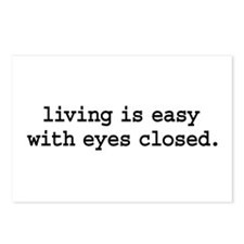 living is easy with eyes closed. Postcards (Packag