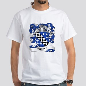 Becker Family Crest White T-Shirt