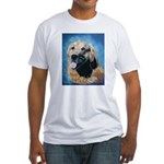 golden retriever and arabian horse Fitted T-Shirt