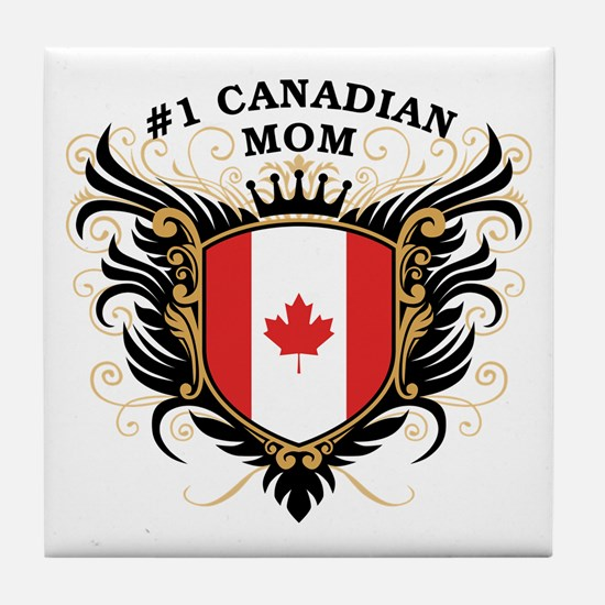 Number One Canadian Mom Tile Coaster