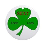 Sexy Irish Lady Ornament (Round)