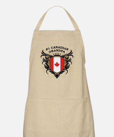 Number One Canadian Grandpa BBQ Apron