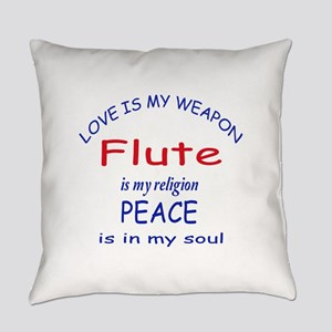 Flute is my religion Everyday Pillow