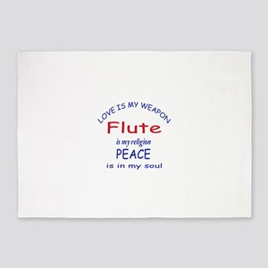 Flute is my religion 5'x7'Area Rug