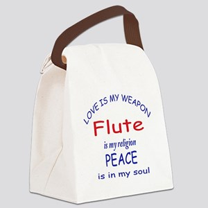 Flute is my religion Canvas Lunch Bag
