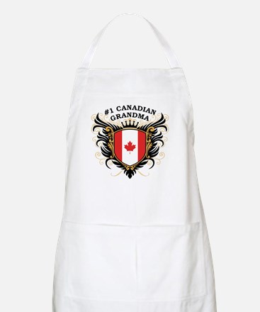 Number One Canadian Grandma BBQ Apron
