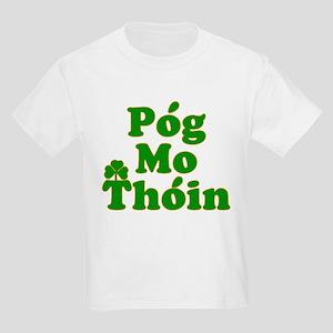 Pog Mo Thoin Kiss My Ass Kids Light T-Shirt