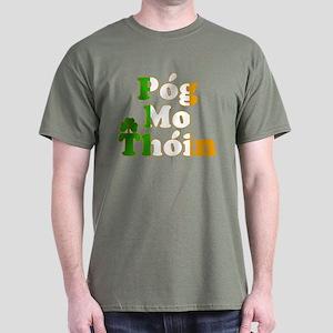 Pog Mo Thoin Kiss My Ass Dark T-Shirt