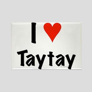I love TayTay Rectangle Magnet