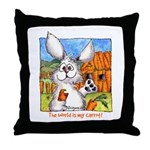 Cute Cartoon Rabbit Throw Pillow